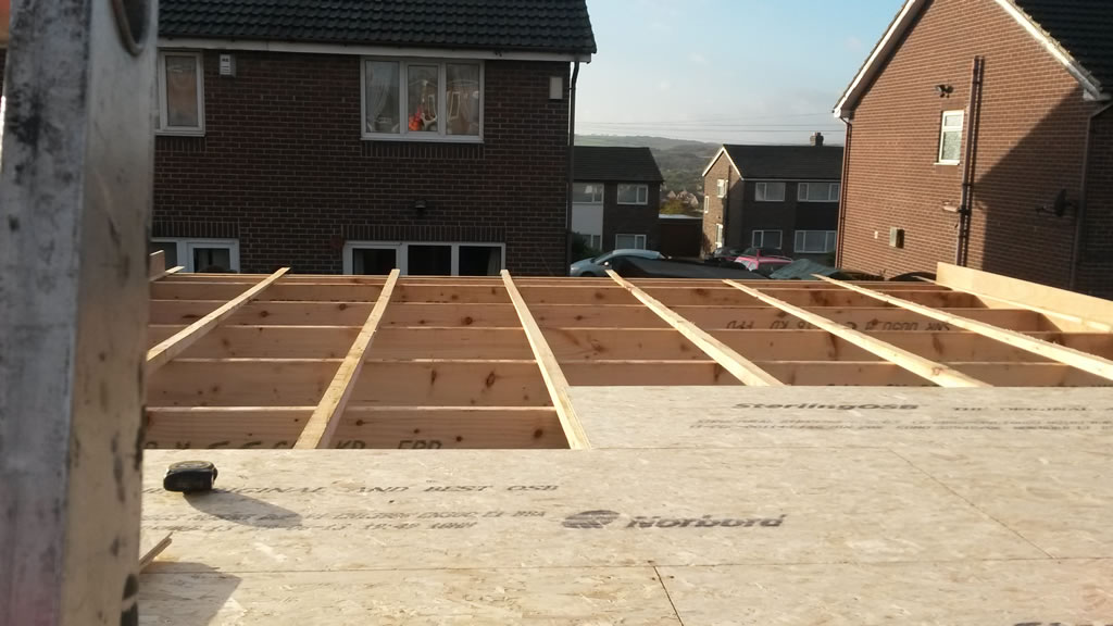 Replacement GRP Flat Roof Under Construction